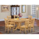Alcott Hill® Emmaline 7 - Piece Solid Wood Dining Set Wood in Brown, Size 30.0 H in | Wayfair 072FE05DEB044C24B3F8B7D2F0267B8A