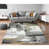 Orren Ellis Grey 9X12 Abstract Area Rug Soft & Plush Rug in Gray, Size 149.0 H x 103.0 W x 0.5 D in | Wayfair 85B8A69045264C30BEFC4762E63F08F4