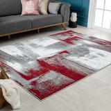 Orren Ellis 6X9 Modern Abstract Area Rug Soft & Plush Rug in Red, Size 109.0 H x 78.0 W x 0.5 D in | Wayfair 369604B0DA5B48528D68F12D0CA818F1