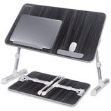 Inbox Zero Laptop Bed Tray Table, (Larger Size) Adjustable Laptop Bed Stand, Portable Standing Table w/ Foldable Legs in Black, Size 12.6 H in