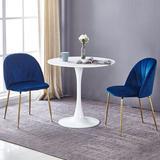Mercer41 Velvet Upholstered Arm Chair(Set Of 2 ) in Blue, Size 31.0 H x 22.0 W x 18.0 D in | Wayfair 133A244BAD50427E89AA7A270DB8FE84