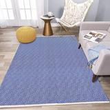 Corrigan Studio® Extra Long Cotton Area Rug Runner Reversible Hand Woven Cotton Throw Rug Floor Mat Carpet Runner For Kitchen Bedroom Entryway Laundry Room Cotton