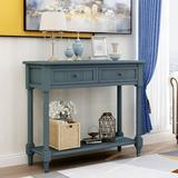 Darby Home Co Barna Console Table Traditional Design Wood in Blue, Size 29.9 H x 35.43 W x 13.8 D in   Wayfair 999EABED9E2A4497839FD043A4F8C67B