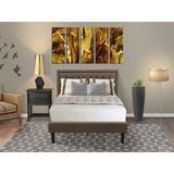 Winston Porter Alman Upholstered Platform Bedroom Set Upholstered in Brown, Size Full/Double | Wayfair 83C65D55D95049E981CA395E0F4626C2