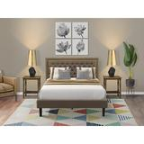 Winston Porter Almath Upholstered Platform Bedroom Set Upholstered in Brown | Wayfair B130138997E34AFEA2C9BCC76E57089B