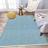 Foundry Select Extra Long Cotton Area Rug Runner Reversible Hand Woven Cotton Throw Rug Floor Mat Carpet Runner For Kitchen Bedroom Entryway Laundry Room Cotton
