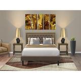 Winston Porter Almamy Upholstered Platform Bedroom Set Upholstered in Brown   Wayfair 61EEABAE4EF6420E9C596FFB2E0498C3