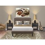Winston Porter Almand Upholstered Platform Bedroom Set Upholstered in Brown, Size Queen   Wayfair D59C8B11351B459389E9B98E76659B30
