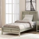 Red Barrel Studio® Modern Twin Platform Bed In Platinum Silver No Box Spring Needed (Freely Configurable Bedroom Sets) Wood in Green | Wayfair