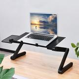 Inbox Zero Laptop Table, Adjustable Great Laptop Bed Table w/ Built-In High-Power Silent Cooling Fan, Detachable Mouse Pad, Portable Laptop Workst