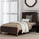 Red Barrel Studio® Modern Twin Platform Bed In Platinum Silver No Box Spring Needed (Freely Configurable Bedroom Sets) Wood in Brown | Wayfair