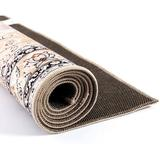 Charlton Home® Persian Area RugFloorcover Floral Pattern Kashan Traditional Non Slip Vintage Carpet in Blue, Size 468.0 H x 288.0 W in | Wayfair