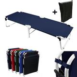 flamingo Portable Military Fold Up Camping Bed Cot + Free Storage Bag Navy in, Black in Blue   Wayfair 577782269