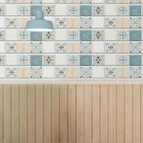 """Walplus 6"""" x 6"""" Gel Peel & Stick Field Tile Gel in Green, Size 6.07 H x 6.07 W x 0.08 D in   Wayfair WT3D3023X4"""