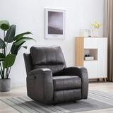 Latitude Run® Modern Power Lift Recliner Chair For Elderly, Faux Leather Electric Recliner w/ 2 Positions, USB Ports in Brown | Wayfair