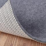wrakus Grey Area Rugs Runners Thick Non-Slip Rug Pad Safe For Wood Floor Vinyl Floor Natural Rubber w/ Backing Anchor Grip Felt Mat Petproof Carpet To Ca Polyester/Pvc