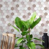 "Walplus 142"" x 24"" Gel Peel & Stick Mosaic tile Gel in Brown, Size 12.01 H x 6.07 W x 0.08 D in | Wayfair WT3D3025X4"