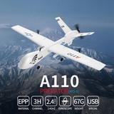Latitude Run® XK A110 Pre-Dator MQ-9 E PP 565Mm Wingspan 2.4G 3CH DIY Glider RC Airplane RTF Plastic in Blue/Green/White   Wayfair