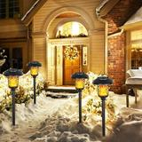 ZWISSLIV Solar Torch Lights,LED Torches Light w/ Dancing Flickering Flames Outdoor Landscape Lighting, For Outside Pathway Garden Yard,1400K IP44