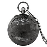 GUOO Pocket Watch for Men Hand Crank Music Quartz Pocket Watch Playing Music Fob Chain Watch Locomotive Best Pocket Watch Dad Gifts for Fathers Day Birthday Gifts