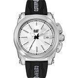 Caterpillar CAT Men's White Dial Stainless Steel Black Rubber Strap Watch DX14121222