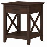 Key West Nightstand with Drawer in Bing Cherry - Bush Furniture KWT120BC-Z