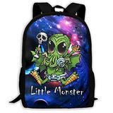 tuxala Alin Little Monster School Backpack Lightweight Strong Adjustable Shoulder Strap Travel Backpacks High Capacity