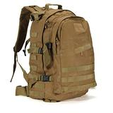 ZZNVS Backpack Climbing Backpack Camping Hiking Trekking Rucksack Travel Military Bag 3D Outdoor Sport Military Backpack Tactical (Capacity : 40L, Color : Khaki)