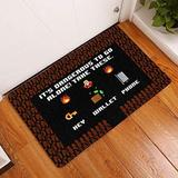 It's Dangerous to Go All Alone - Remind Key Wallet Phone Indoor and Outdoor Doormat Game Icon Warm House Gift Birthday Gift Gift for Gamer Gift Idea for New Home (Indoor & Outdoor Doormat 30x18)
