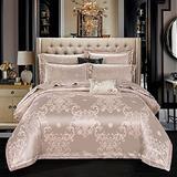 FFAN Luxury Bedding Set King Size, 100% Cotton Double Duvet Covers Set, Silk Bedding Sets King Size Blue Double Duvet Covers Set Cotton Luxury Satin Jacquard Bedding Sets 4pcs King Size Double Bed