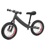 Demeras Nylon Steel Frame Children Sliding Super Junior Metal Balance Bike for Children Kids Toys Gift for Children Exercise(Black)