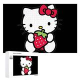 Free brand Hello Kitty Puzzle 1000 Pieces Wooden Jigsaw Fun at The Amusement Puzzles Decoration Teens Interesting Family Games Gift