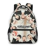 Haikyuu Anime Kids School Backpack Travel Casual Backpack Lightweight Durable Middle Elementary Daypack Book Bag for Girls Boys