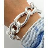 Sevil 925 Women's Bracelets 51.6 - Sterling Silver Large Oval Link Bracelet