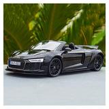 ZCLY 1:18 for Audi Convertible Roadster Alloy Diecast Car Model Toy Black Car Boys Girls Adults Gift Die-cast car