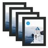 FRAME YI 8x10 Black Picture Frame (4 Pack), Photo Frames Set for Wall Tabletop Display, Ready to Hang, Home Decoration