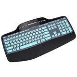 Keyboard Cover for Logitech MK710 MK735 Wireless Keyboard, Logitech MK700 MK710-RB Desktop Wireless Keyboard Protective Skin, Logitech Keyboard Accessories-Mint