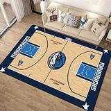Basketball Court Pattern 3D Image Carpets Indoor Area Rugs,Boys Children Bedroom Play Area Rug,Living Room Carpet Balcony Mat 80120cm