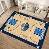 Basketball Court Pattern 3D Image Carpets Indoor Area Rugs,Boys Children Bedroom Play Area Rug,Living Room Carpet Balcony Mat 100160cm