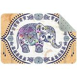 Non Skid Rug Nursery Rug Rectangle Area Rugs Rug entryway Indoor Rectangle Bedroom Rug Vintage Elephant Mandala Floral 35x24in