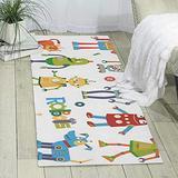 Cute Cartoon Robots Printed Area Rug Hallway Rugs Rugs Room Bedroom Rug,70'' X 24''
