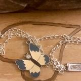 Coach Jewelry   Coach Enamel Butterfly .925 Sterling Necklace   Color: Blue/Silver   Size: 18 In Length