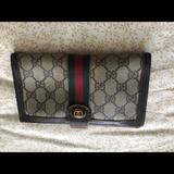 Gucci Bags | Authentic Vintage Gucci Tri-Fold Wallet | Color: Brown/Tan | Size: Os