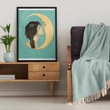 Anthropologie Wall Decor   Anthropologie Vintage Art Lunar Print Canvas Moon   Color: Blue   Size: Os