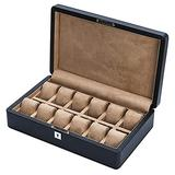 FFAN Carbon Fiber Artificial Leather Watch Box Wooden Mechanical Watch Display Collection Storage Box Diamond Pattern Watch Box Business Gift High-End Watch Jewelry Box Upscale Nice Family