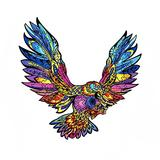 INOOY 200 Pieces Wooden Jigsaw Puzzle Unique Irregular Animal Shape Puzzle Pieces Educational Puzzle Gift for Adults and Kids,Colorful,Eagle