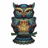 INOOY 200 Pieces Wooden Jigsaw Puzzle Unique Irregular Animal Shape Puzzle Pieces Educational Puzzle Gift for Adults and Kids,Colorful,Owl