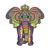 INOOY 200 Pieces Wooden Jigsaw Puzzle Unique Irregular Animal Shape Puzzle Pieces Educational Puzzle Gift for Adults and Kids,Colorful,Elephant