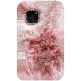 iPhone4/4S Art Case, Handmade Fluffy Villi Angel Flower Color Wool Winter Warm Soft Cover, TAITOU Beautiful StunningLight Phone Case for Apple iPhone 4/4S Brown