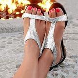 YOCheerful Sandals for Women Women's Gladiator Strappy Flat Sandals Ankle Strap Open Toe Summer Beach Roman Sandal